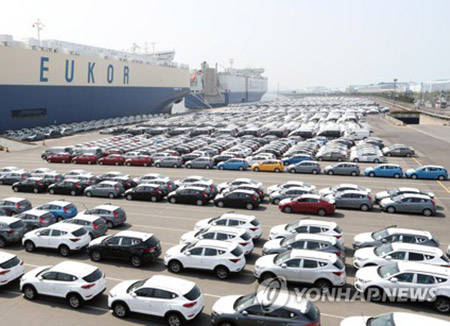 Exports of S. Korean Automobiles Fall for 2nd Quarter in Row