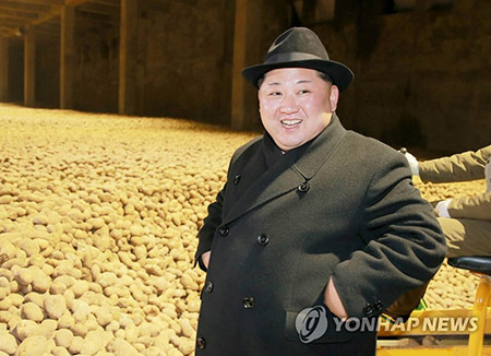 북한 김정은, 백두산 인근 삼지연에 신축한 감자가루공장 시찰