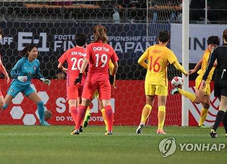 한국 여자축구, E-1 챔피언십서 3전 전패로 마감