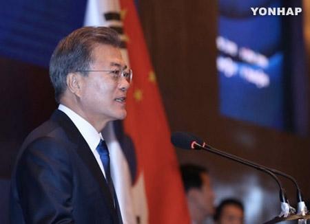 """文대통령 """"""""韓신남북방정책-中일대일로' 연계 4대 협력방안 제안"""
