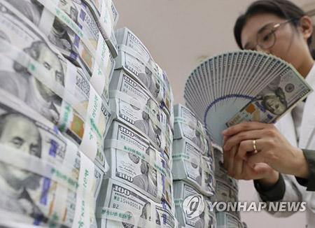 外貨準備高 3893億ドルで過去最高