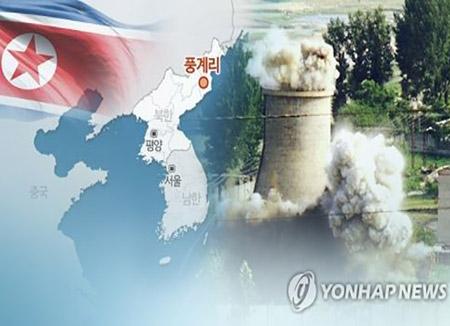 """38노스 """"북한 풍계리 핵실험장 공사 더뎌지고 인부 줄어"""""""