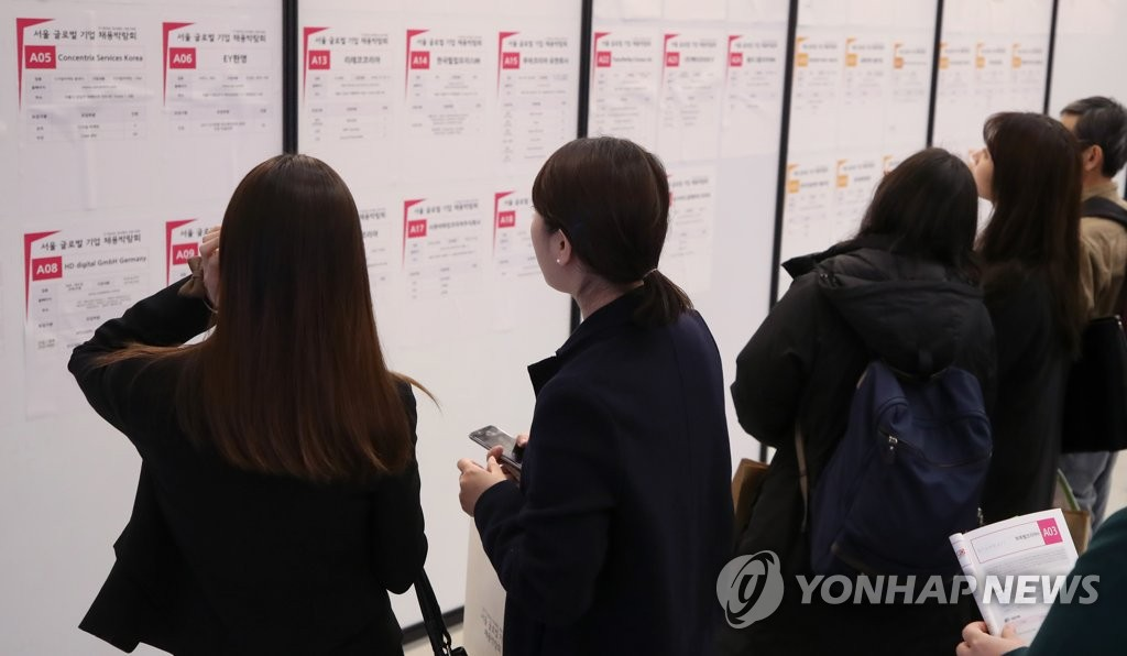 去年韩国青年失业率为9.9%  史上最严峻