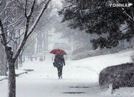 この冬一番の寒さ 北極圏の寒気が韓半島に流れ込む