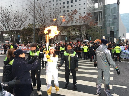 Olympic Torch Arrives in Seoul