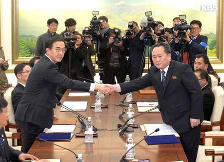 Юг и Север обсудят визит северокорейских деятелей искусств на зимнюю Олимпиаду в Пхёнчхане