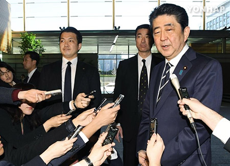 Abe Emphasizes Maximum Pressure on N. Korea