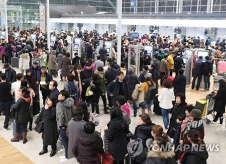 韓国の航空旅客数 去年、過去最高