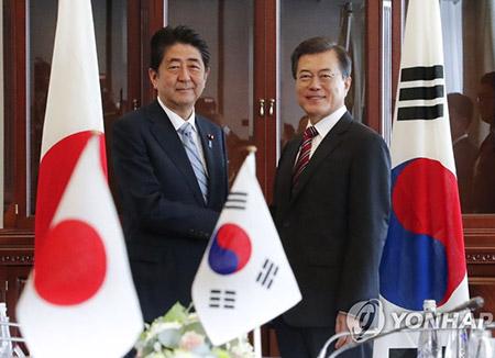 Moon Jae In mantendrá una cumbre con Shinzo Abe en PyeongChang