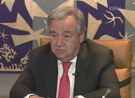 国連事務総長 「オリンピックは北韓に重要な機会」