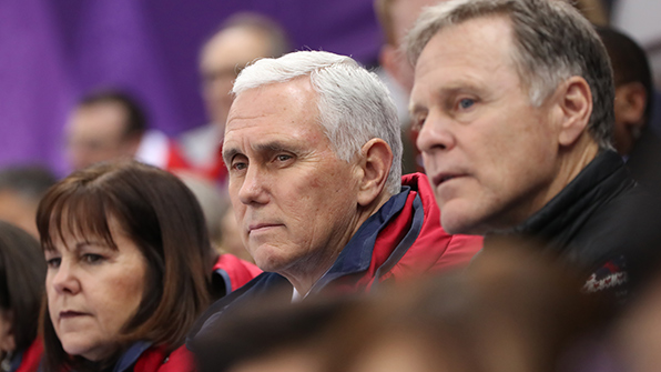 Heading home, Pence insists 'no daylight' on North Korea