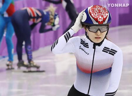 استبعاد اللاعبة الكورية من الحصول الميدالية الفضية في التزلج على مسار قصير