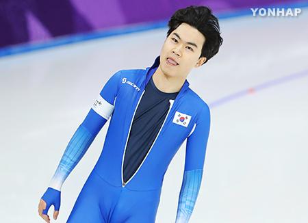 韩国队金民锡荣获速滑男子1500米项目季军