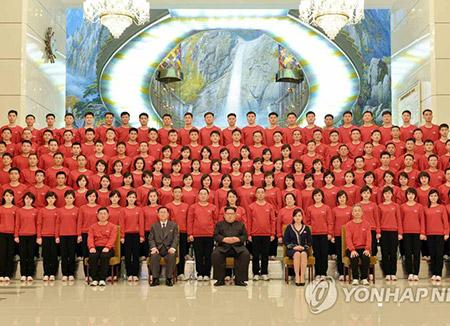 Kim Jong-un trifft Samjiyon-Orchester nach Konzerten in Südkorea