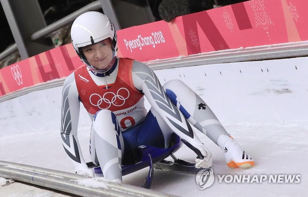 [올림픽] 프리슈, 한국 루지 역대 최고성적 8위