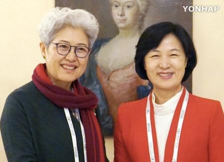 추미애, 푸잉 중국 전인대 주임 면담