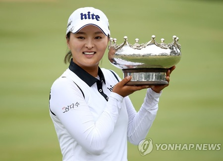 Ko Jin-young takes a four-stroke lead into the final round