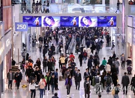 2月の訪韓外国人数 前年比16%減少
