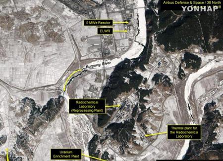 北韓の原子炉に稼働の兆候