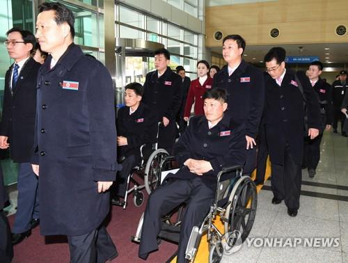 Đoàn thể thao Bắc Triều Tiên dự Paralympic PyeongChang đến Hàn Quốc