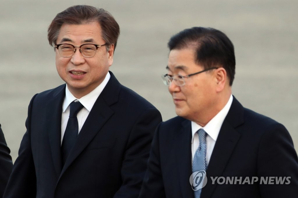 Moon's Envoys to N. Korea Depart for US Thursday