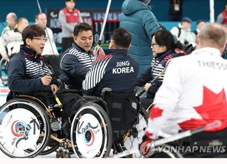 平昌パラ車椅子カーリング 韓国がフィンランドに圧勝