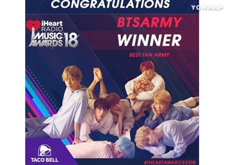 BTS Scoops Up 2 Awards at iHeart Radio Music Awards