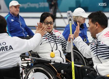 [패럴림픽] 휠체어컬링 '오벤저스', 핀란드 꺾고 5승 1패..4강 눈앞