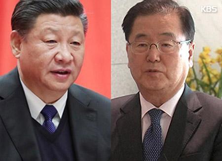 青瓦台国家安保室長 中国で習近平国家主席と会談