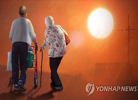 Un 35% de los surcoreanos entre 50 y 69 años cuidan de padres e hijos a la vez