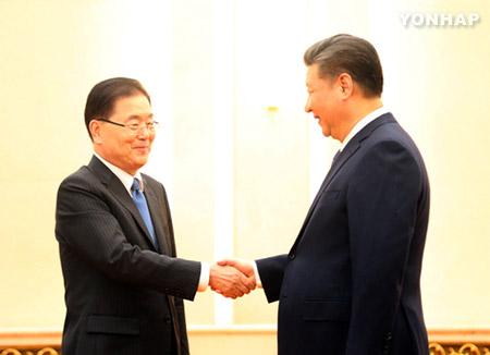 정의용, 중국 시진핑에 방북·방미 설명