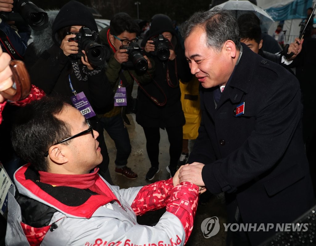 N. Korean Delegation to Paralympics Returns Home