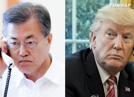 توافق بين الرئيسين مون وترامب قبل المحادثات مع كوريا الشمالية