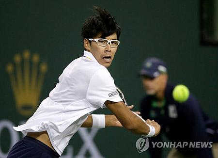 男子テニス チョン・ヒョン、世界ランキング124位に後退