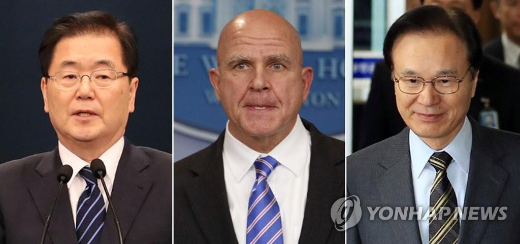 Rencontre des conseillers présidentiels à la sécurité nationale sud-coréen, américain et japonais