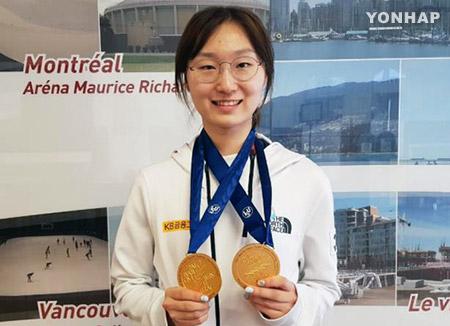 崔敏静包揽短道速滑世锦赛4枚金牌