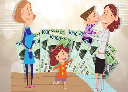 児童手当支給 月収1170万ウォン以下