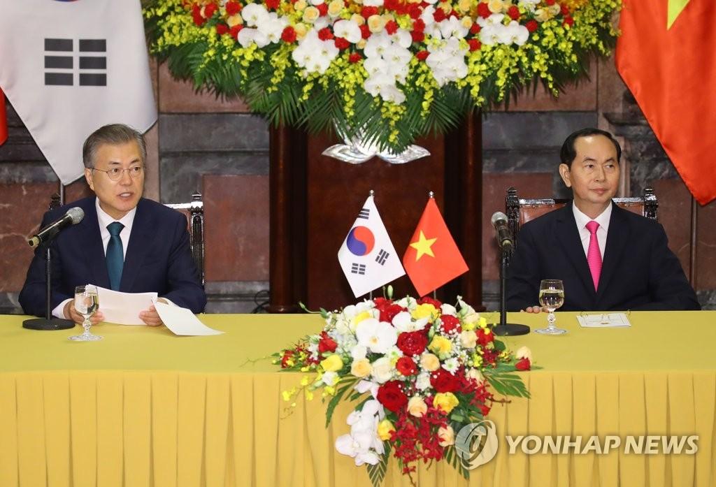 Leaders of S. Korea, Vietnam Adopt Joint Declaration