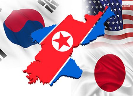 한미일 국방 당국, 북한 미사일 경보훈련 지속·북한 불법 환적 근절