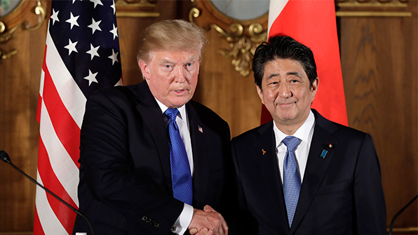 Kyodo: Abe to Ask Trump to Reject 'Phased' Denuclearization of N. Korea