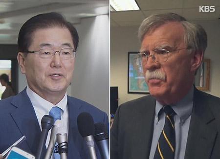 韓米の安全保障のトップが初の会談