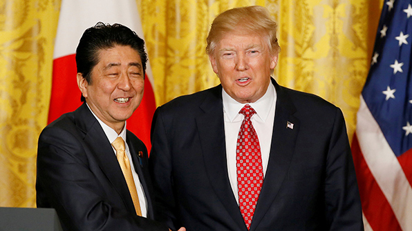Abe Embarks on US Trip