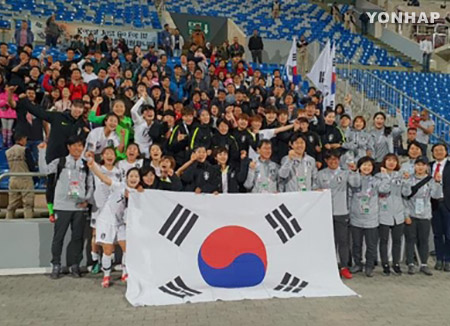 サッカー韓国女子 ワールドカップ出場決定