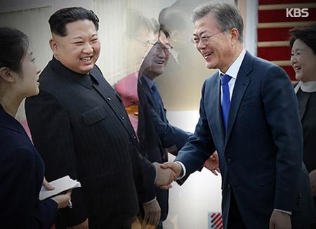 南北韩首脑27日上午进行首次会晤并进行欢迎仪式和晚宴