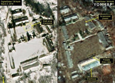 """아사히신문, """"북한 풍계리 핵실험장 일부 군병력 남아"""""""