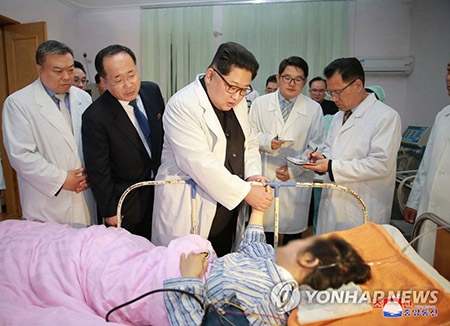 김정은, 중국 교통사고 위로...새벽에 대사관 첫 방문