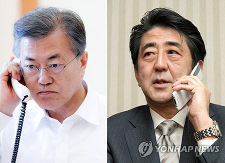 Moon Jae-in et Shinzo Abe s'entretiennent par téléphone à trois jours du sommet intercoréen