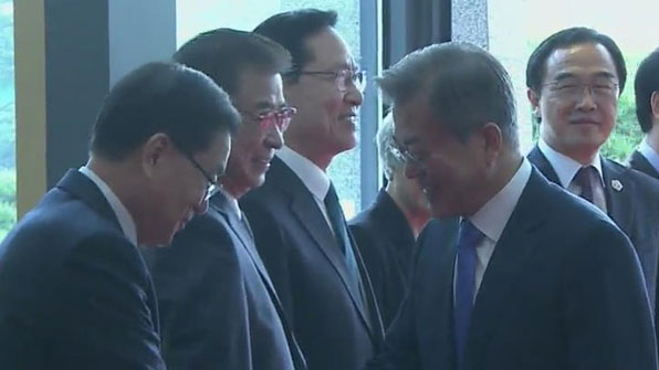 Sommet intercoréen : Moon Jae-in arrive au village de la trêve de Panmunjom