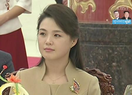 Nordkoreas First Lady Ri Sol-ju nimmt an Bankett teil