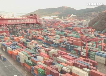 La economía de Corea depende en casi un 70% del comercio exterior
